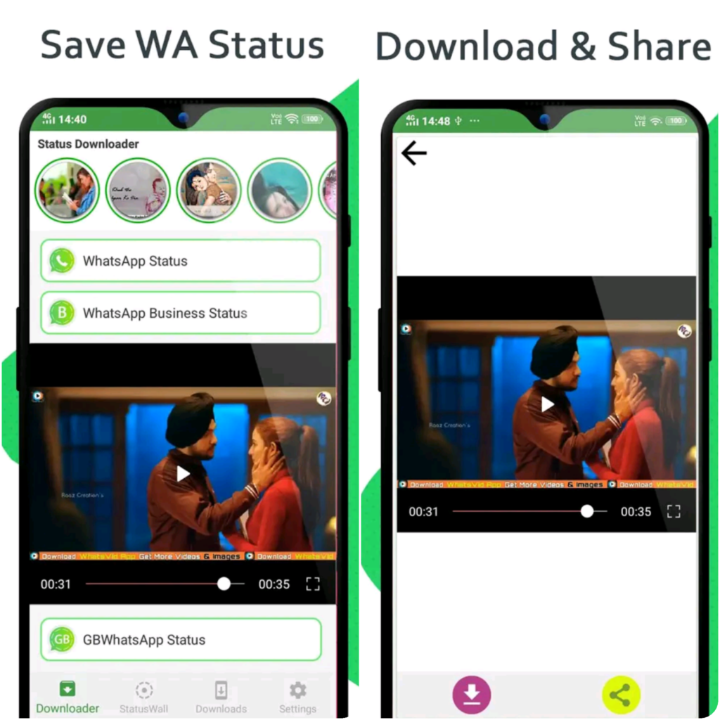 Download WhatsApp Status On Android