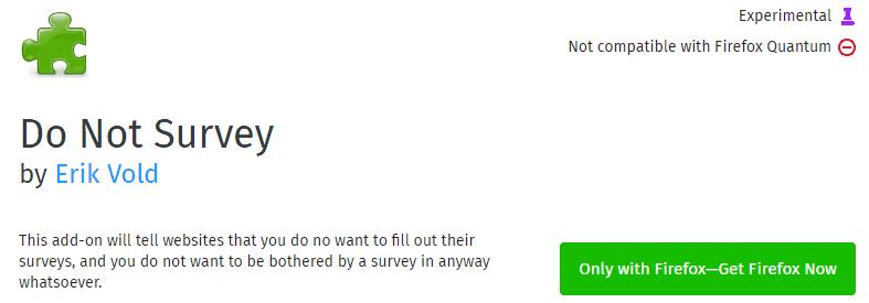 bypass survey mozilla firefox