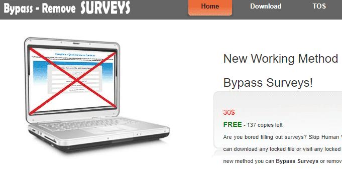 online survey bypass website