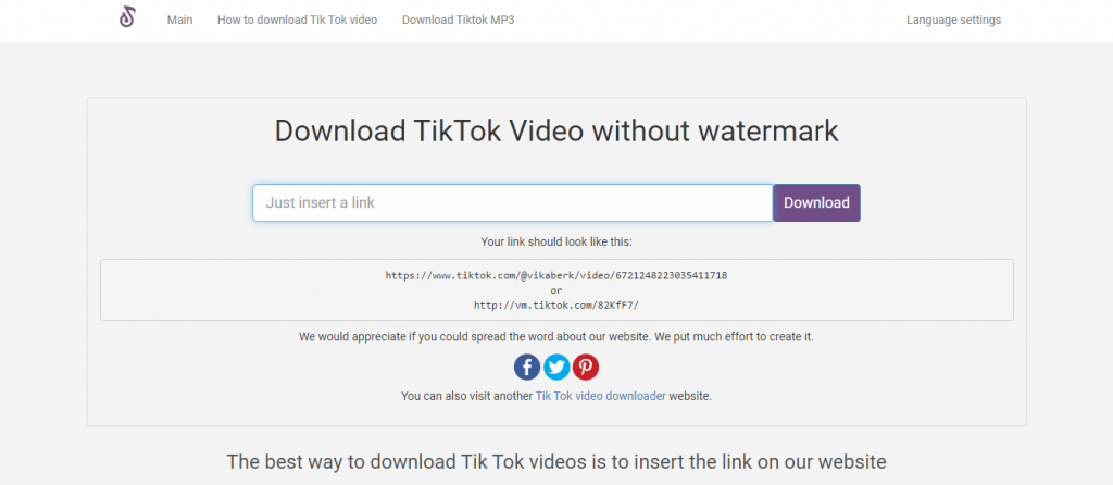 Download TikTok Videos Without Watermark HD - SSSTikTok