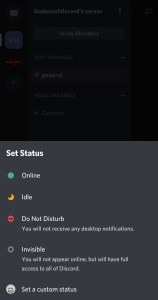 how to make a custom status on discord
