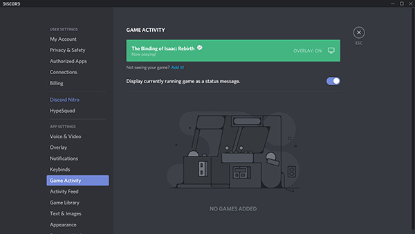how to add custom status on discord