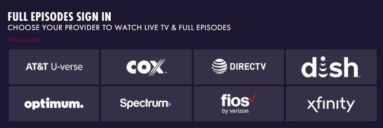 WE tv providers