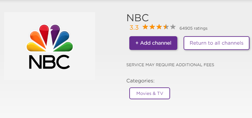 activate nbc on roku tv