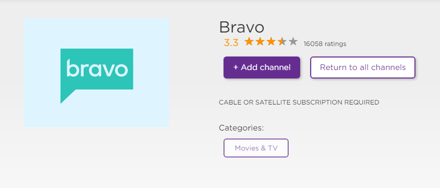 Activate Bravo TV On Roku