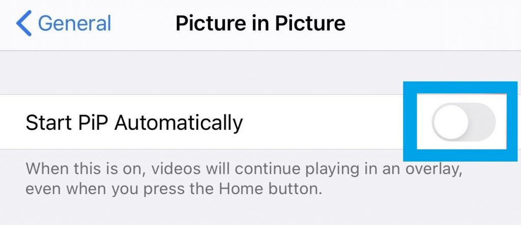 Picture In Picture Toggle