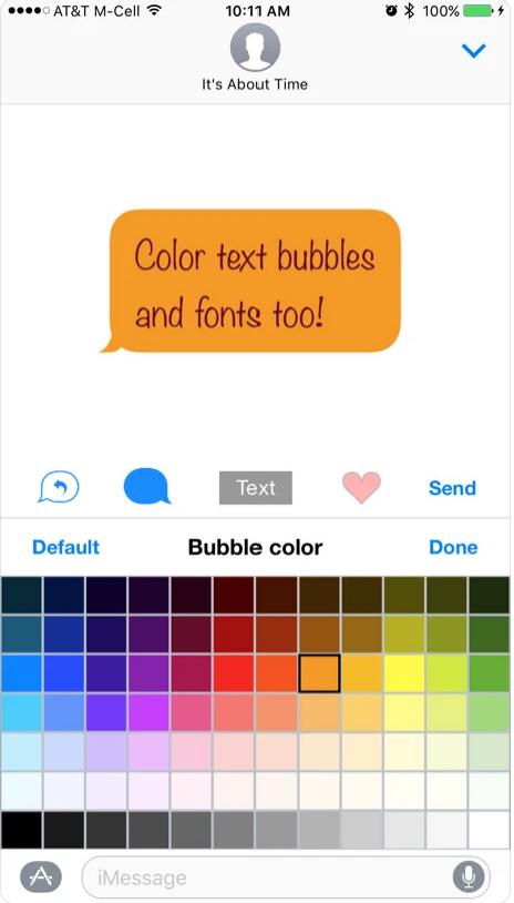 iMessage Bubble Text Color Bar