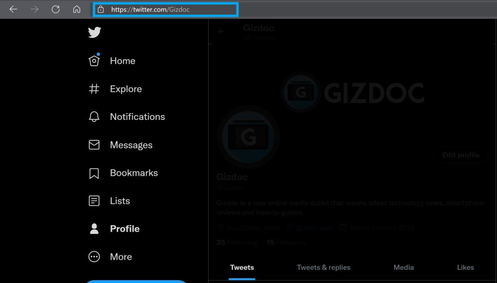 How To Find My Twitter URL On Desktop