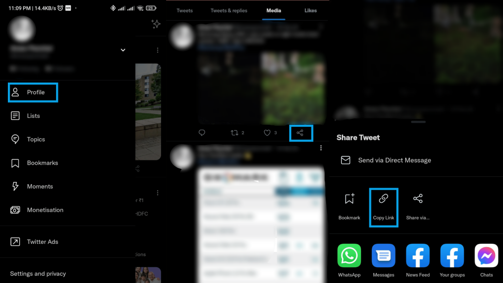 How To Find Twitter URL On The App
